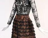 Oscar De La Renta Ruffle Dress