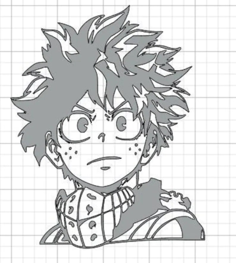 Download Five Anime My Hero Academia Cricut and Silhouette Izuku | Etsy