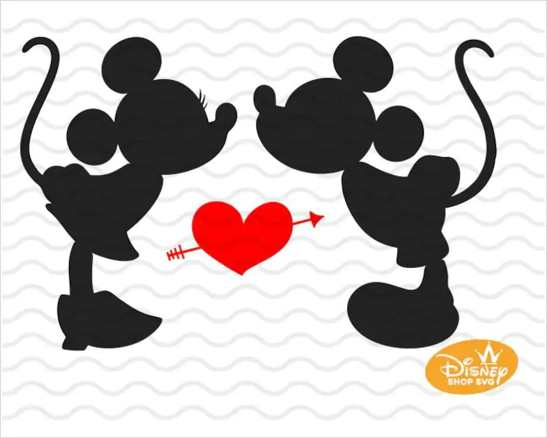 Download Mickey and Minnie kissing SVG / Disney Mickey Mouse SVG ...