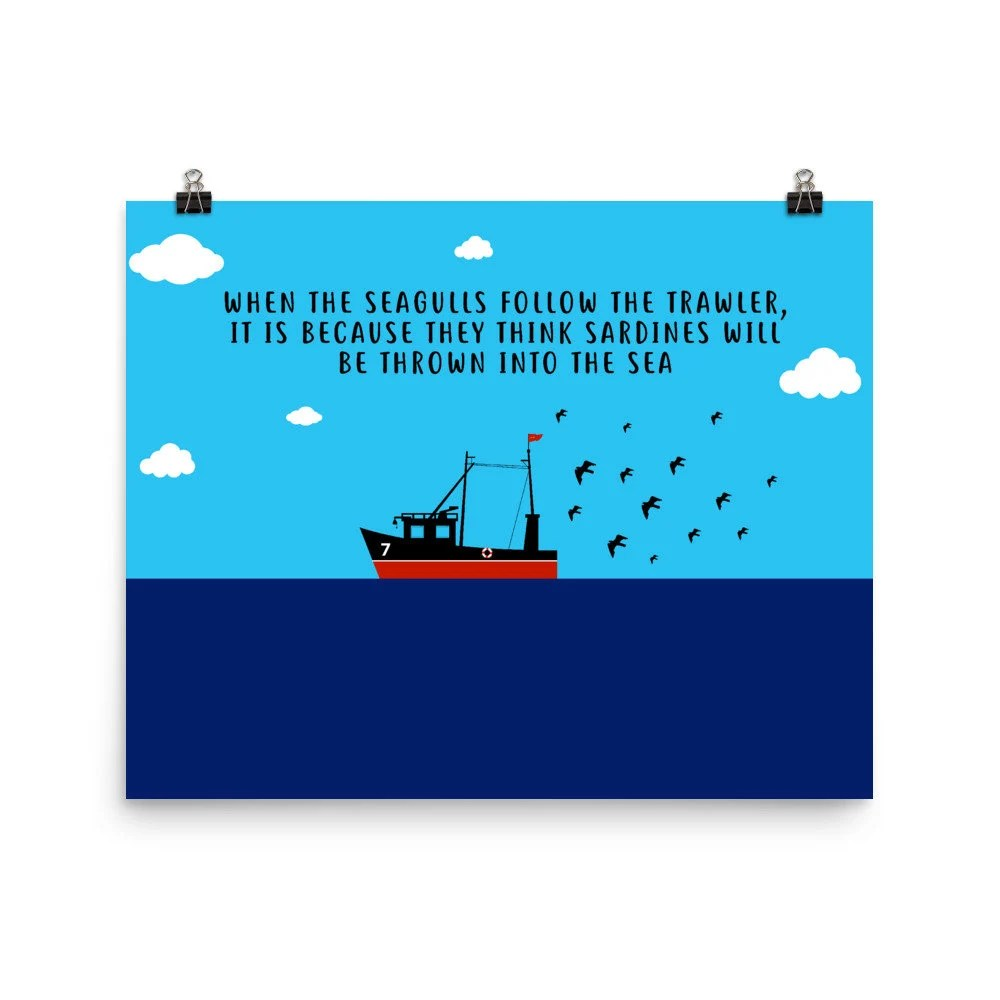 Subscribe to sky sports retro: Eric Cantona Seagulls And Sardines Quote High Quality Poster Etsy