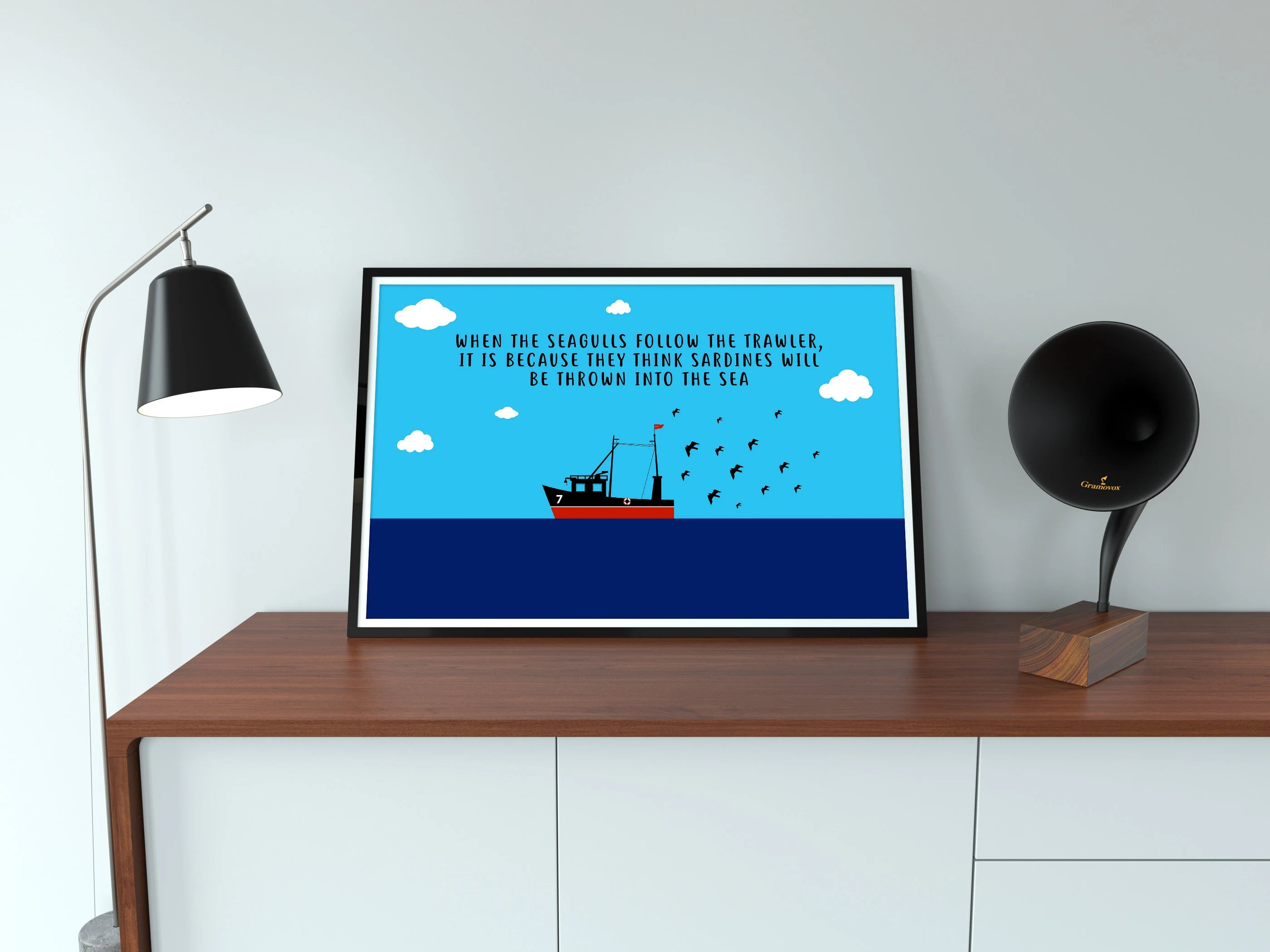 When the seagulls follow the trawler, it is because they think sardines will be thrown into the sea. Eric Cantona Seagulls And Sardines Quote High Quality Poster Etsy