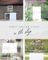 5x7 Mock Up Menu Table Number Wedding Sign Portrait Etsy