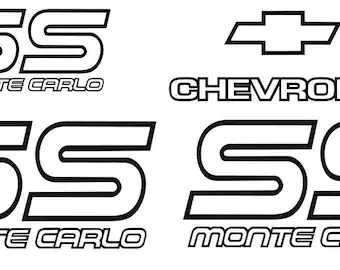 Car & Truck Graphics Decals 87-88 MONTE CARLO SS DECAL KIT