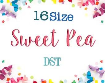 sweet pea font # 18