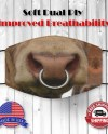 Funny Bull Nose Ring Face Mask Breathable Reusable And Etsy