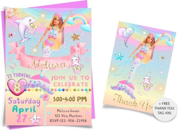 barbie mermaid invitation barbie mermaid birthday invitations barbie invitation barbie birthday invitations barbie invitation printable