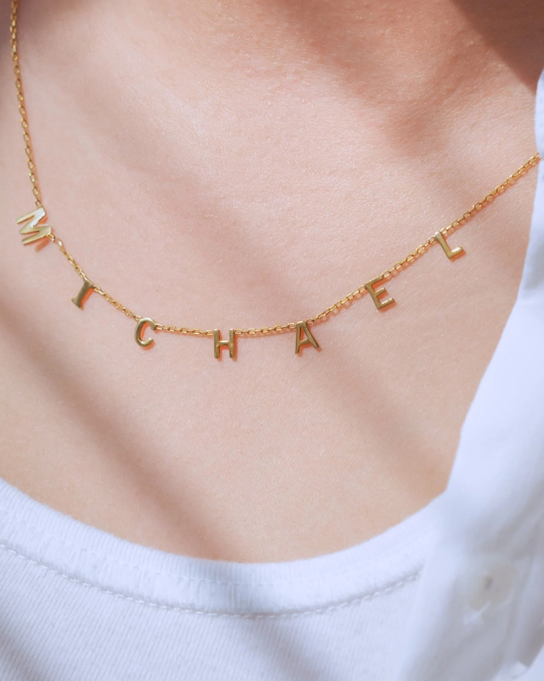 Personalized Name Necklace  Initial Necklace  Letter image 4