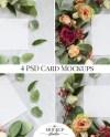 Wedding Invitation Mockups Floral Card Mockup Bundle Etsy