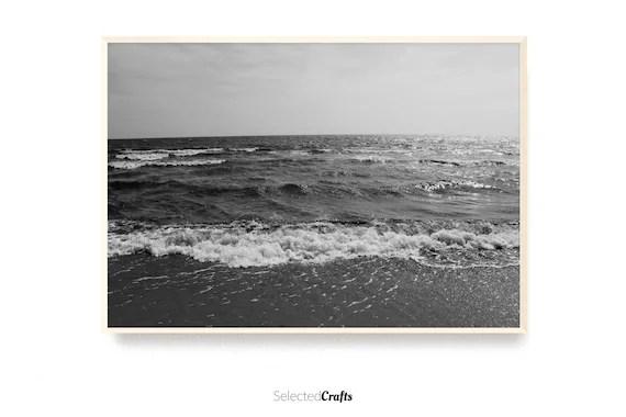Ocean Photo Art Print   Scandinavian Decor   Minimal Decor Printable   Poster   Digital Download   Wall Art   Bathroom Art   Nordic Spa  