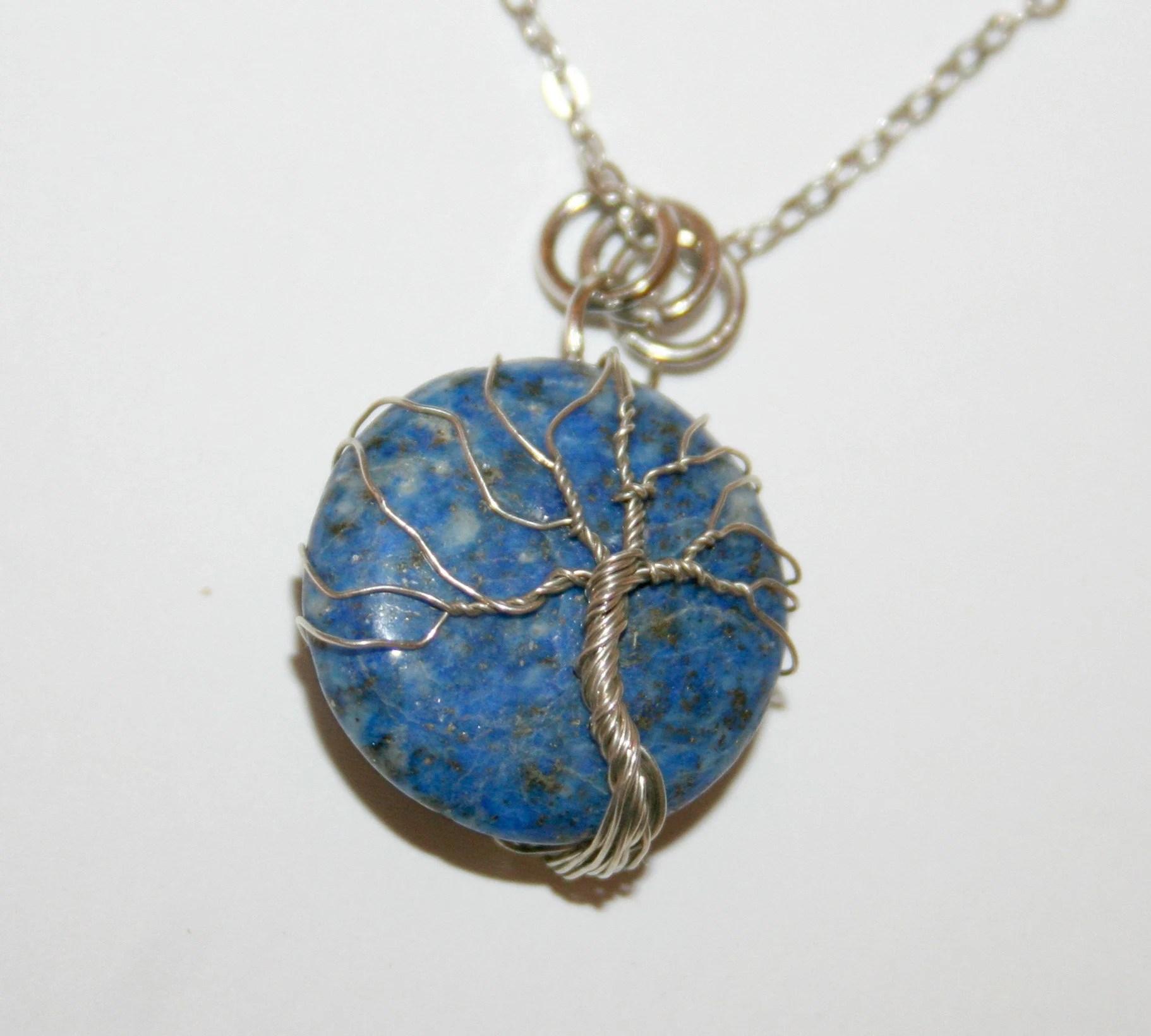 pendant tree of life on lapis lazuli 23 image 1