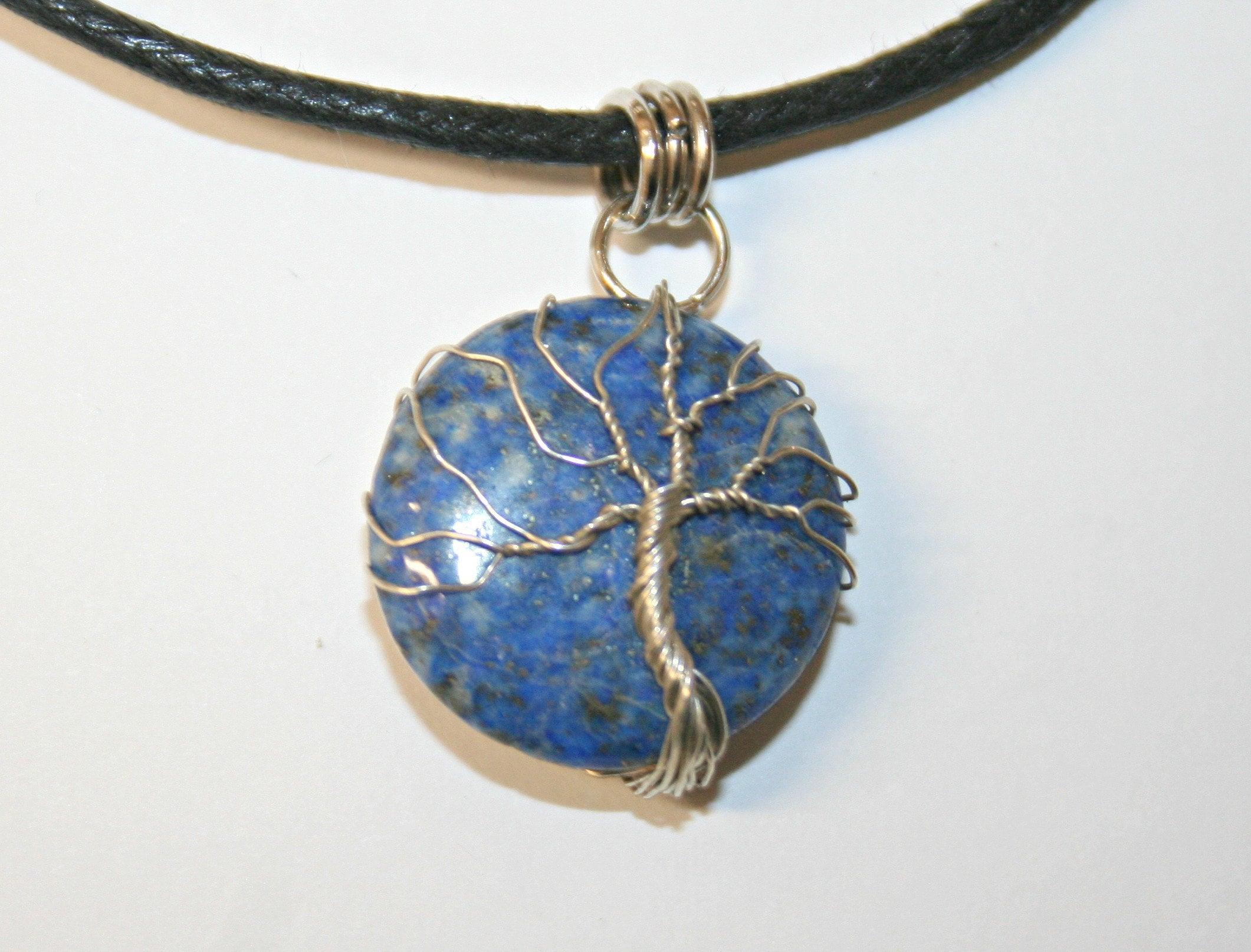 pendant tree of life on lapis lazuli 23 image 2