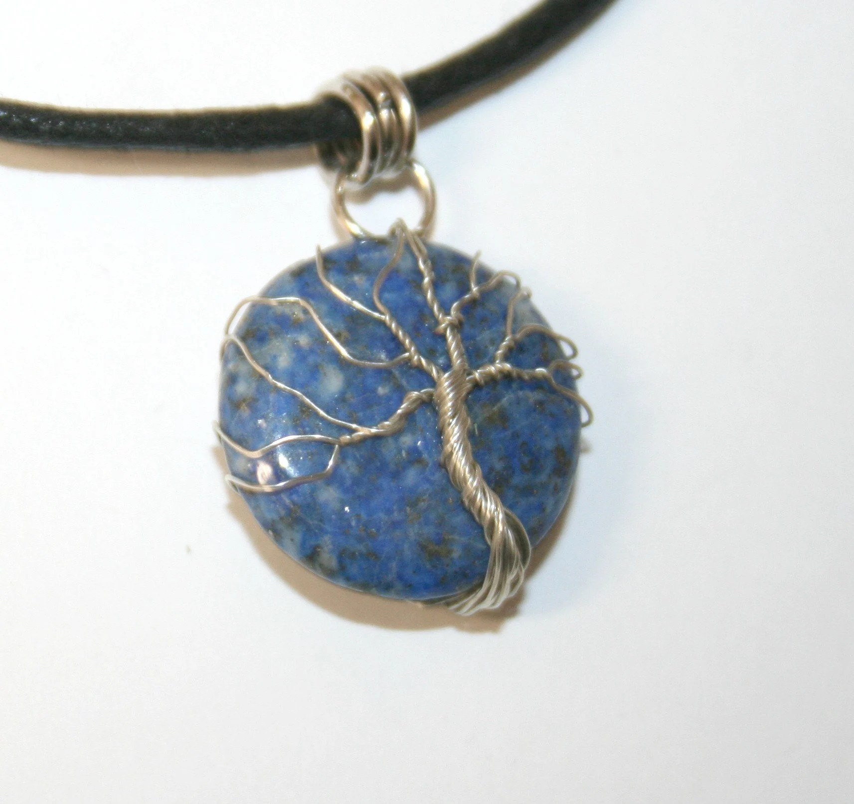 pendant tree of life on lapis lazuli 23 image 3