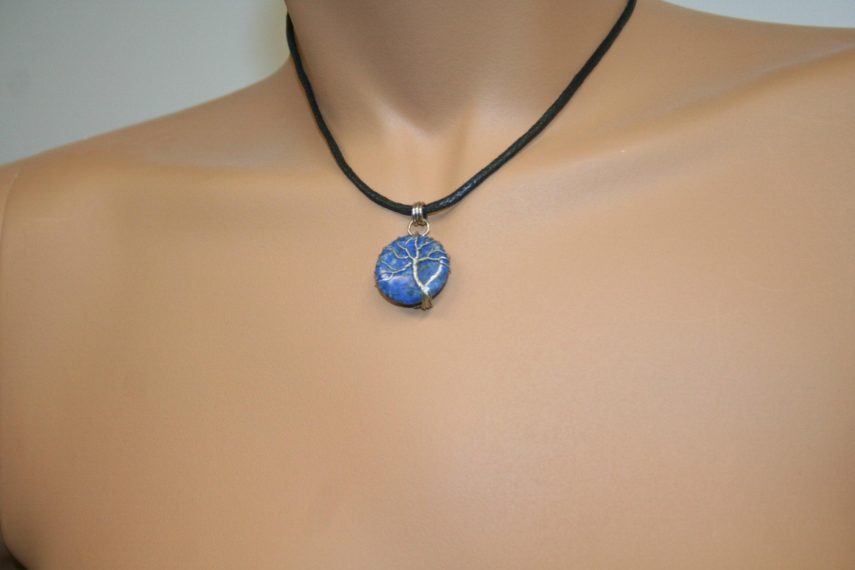 pendant tree of life on lapis lazuli 23 image 5