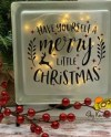 Decorative Glass Block With Stand And Fairy Lights Etsy