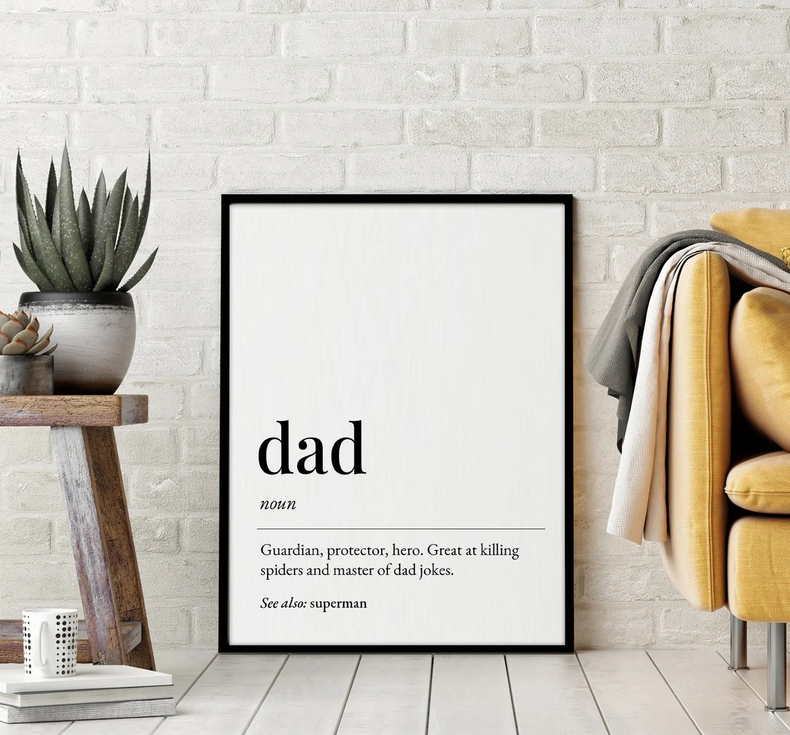Dad Definition Printable Art Father Day Gift Dad Quote image 0