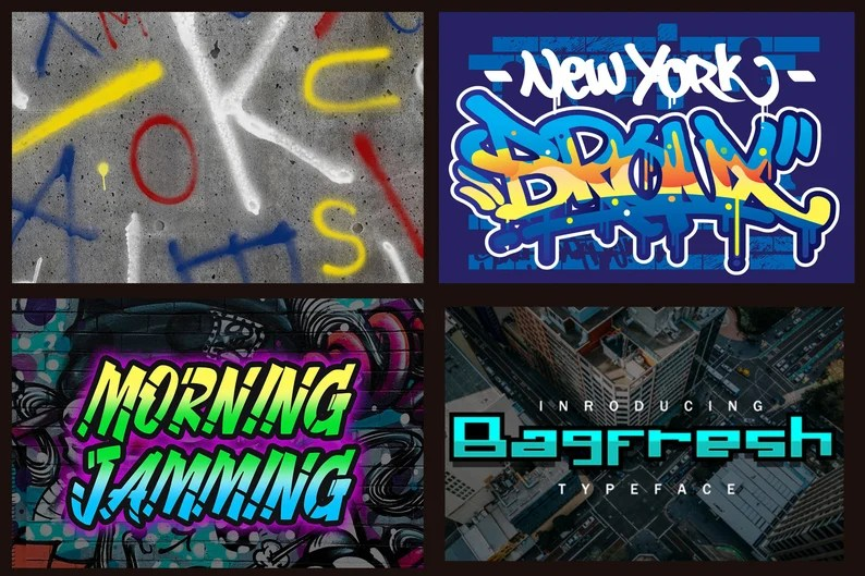 Download 32 Graffiti fonts Pack Instant Digital Download | Etsy