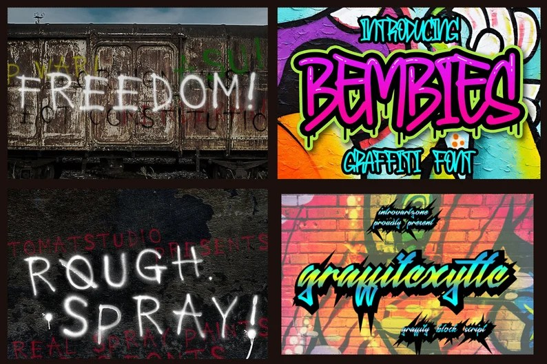 Download 32 Graffiti fonts Pack Instant Digital Download   Etsy