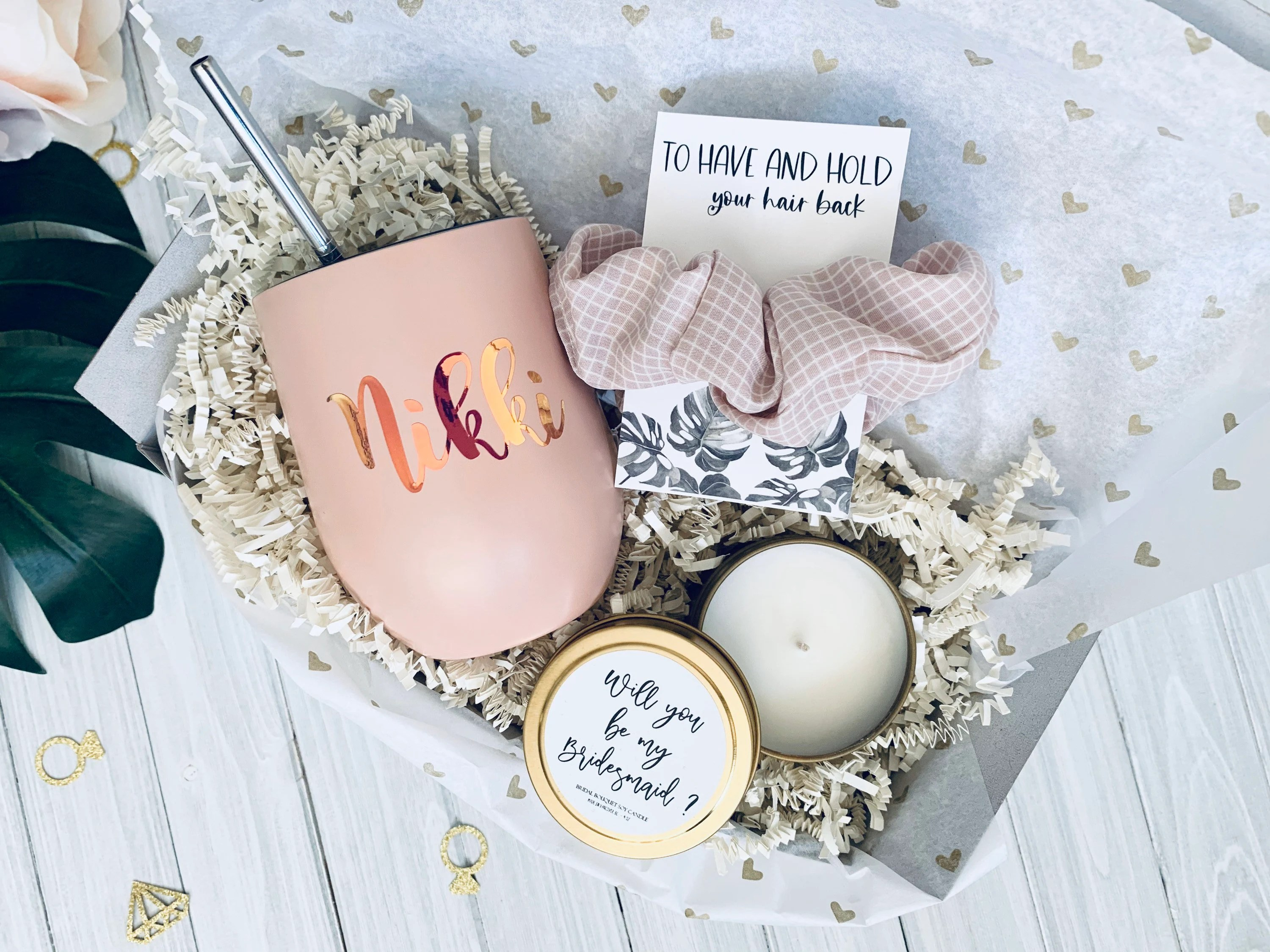 Bridesmaid proposal gift, Personalized bridesmaid gift, Bridesmaid gift, Bridesmaid gift box, Bridesmaid proposal, Will you be my bridesmaid                                                                    MyHandmadeWeddingCO         From shop MyHandmadeWeddingCO                               5 out of 5 stars                                                                                                                                                                                                                                                          (253)                 253 reviews                                                      CA$68.50