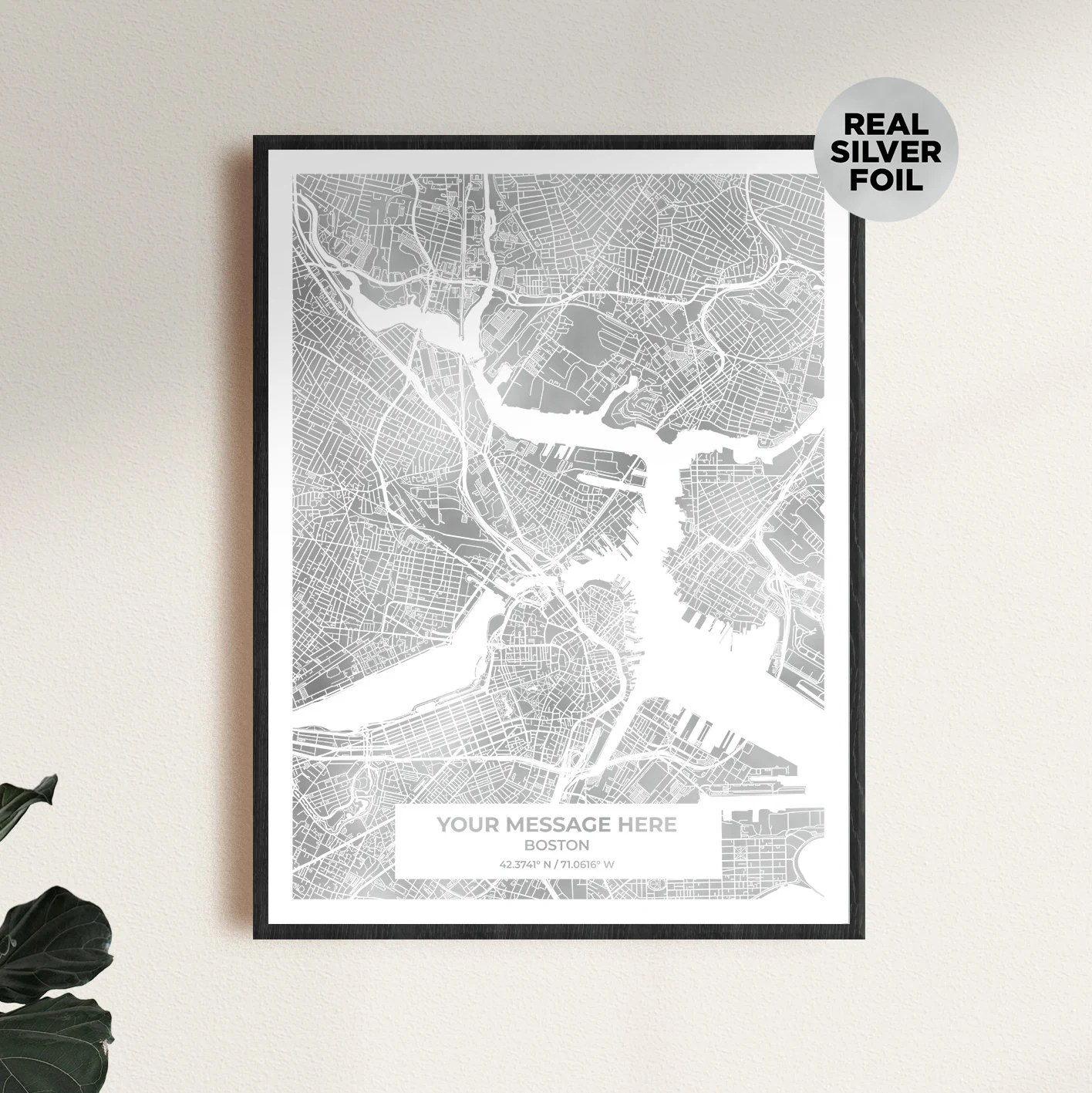 Gold custom map print the perfect anniversary gift or image 3