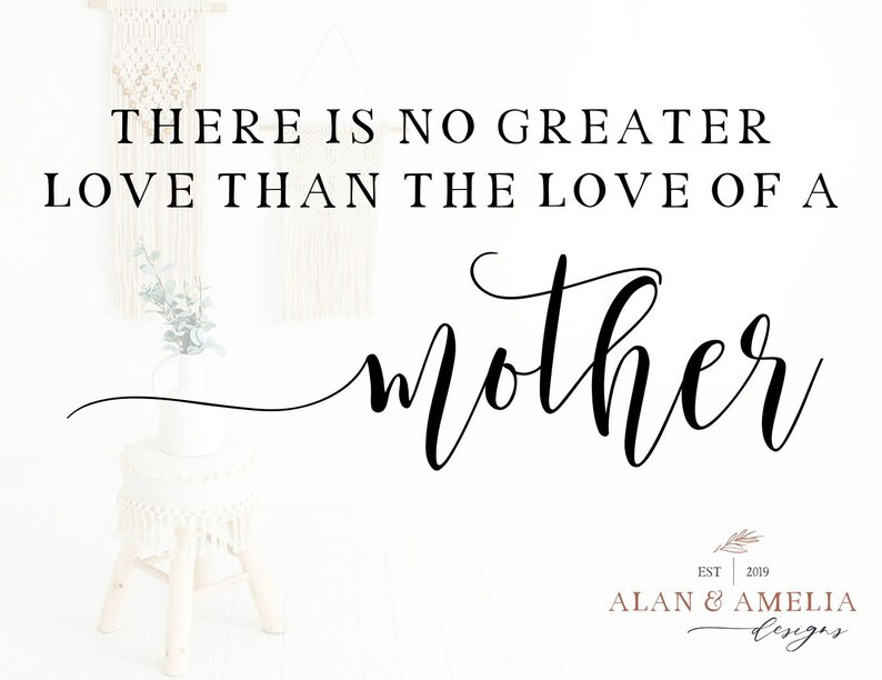 Download No Greater Love Than The Love Of A Mother Svg Mother's | Etsy