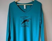 Long Sleeved Teal Blue Top | Your Daily Practice