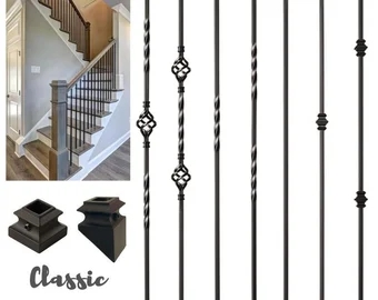Stair Spindles Etsy | Stair Posts And Spindles | Stairway | Newel Post | Inexpensive | Rectangular | Railing