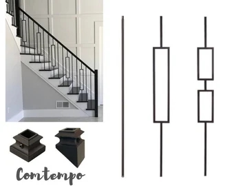 Bulldog Stairs High Quality And Low Prices By Bulldogstairs | Wrought Iron Staircase Spindles | Basement Stair | Rot Iron | Outdoor | Wooden French Country Newel Post | Foyer