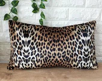 cheetah pillow etsy