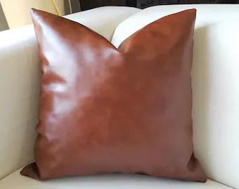 cognac pillows etsy