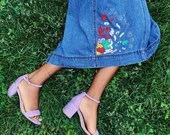 """Upcycled Ralph Lauren Jeans Denim Skirt - """"Oh, You'll See..."""""""