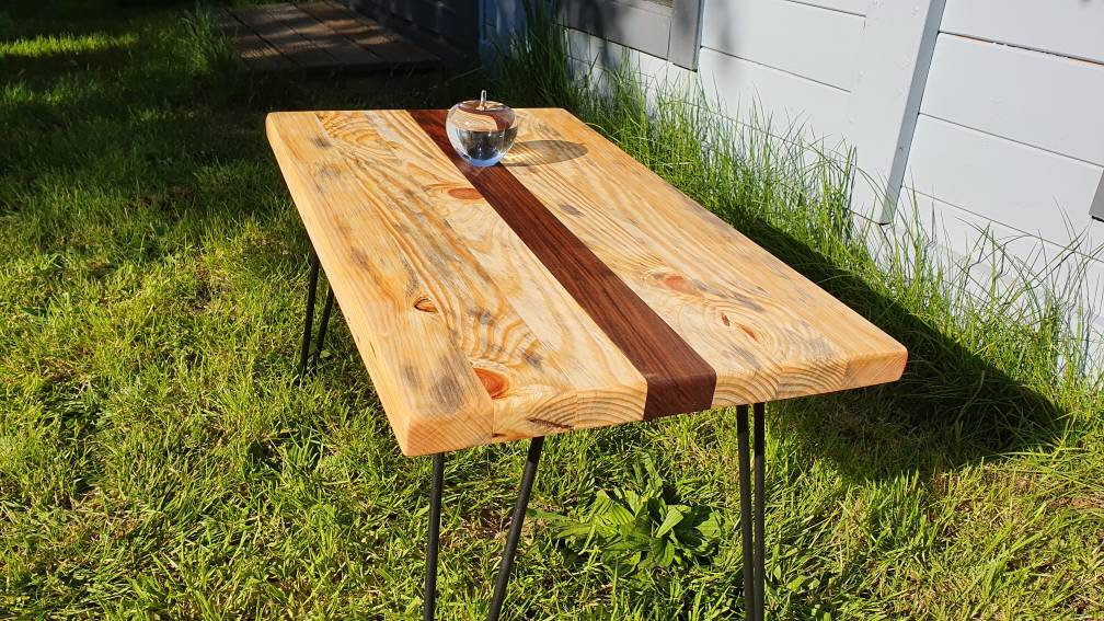 small rustic coffee table wood coffee table sofa table metal table legs living room furniture wooden decor housewarming gift
