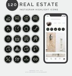 120 Instagram Story Highlight Icons Real Estate Instagram Etsy