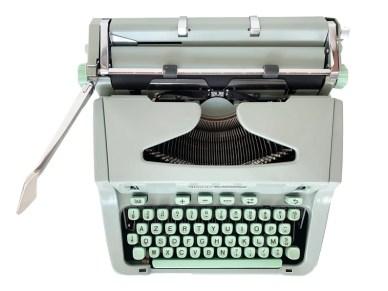 Machine á écrire Hermes 3000 vert menthe  excellent état image 0