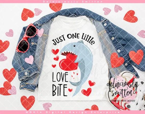 Download Just One Little Love Bite SVG Valentine Shark svg Baby ...