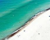 Aerial View of Lake Michigan Beach Shoreline
