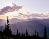 Mountain Sunset Warm Tone