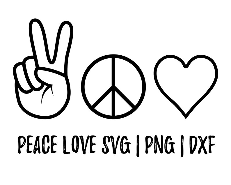 Download Peace love svg Hand Peace Sign SVG Hand Drawn Heart and ...
