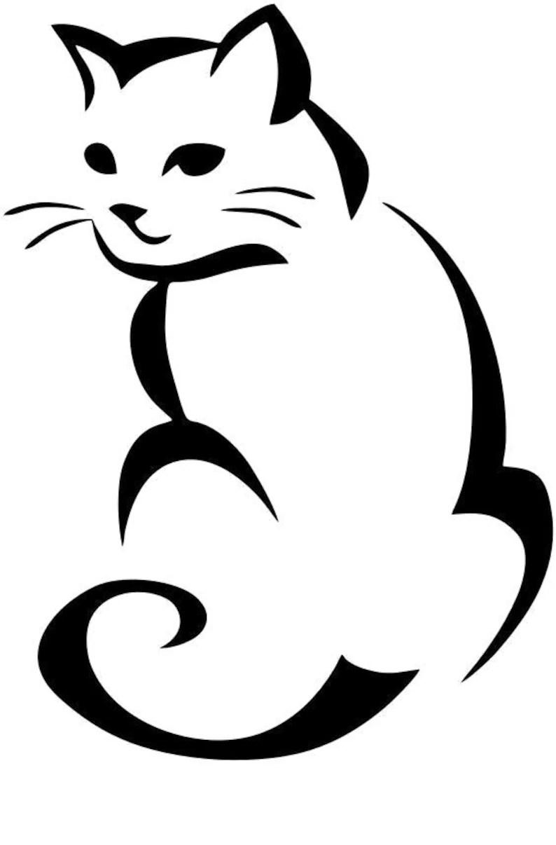 Download Cat SVG PNG JPG Cricut & Silhouette digital file | Etsy