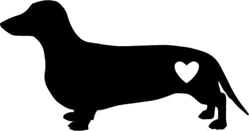 Download Dachshund wiener dog heart SVG PNG JPG Cricut & | Etsy