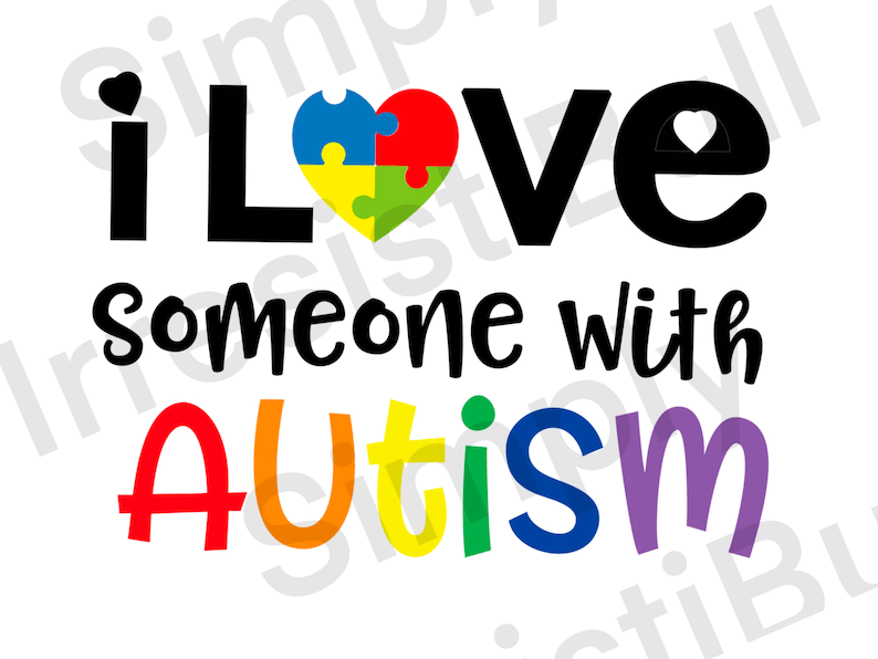 Download DIGITAL FILE/ I Love Someone with Autism SVG File   Etsy
