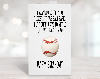 Funny Baseball Card Etsy