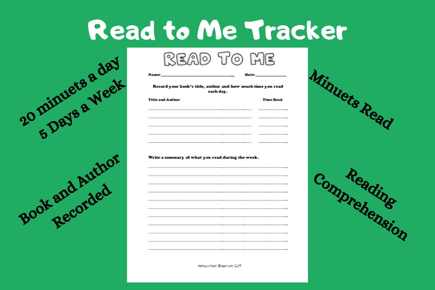 Read To Me Reading Time Tracker And Comprehension