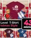 Bundle 86 Christmas Shirt Mockup White Childrens Flat Lay Etsy