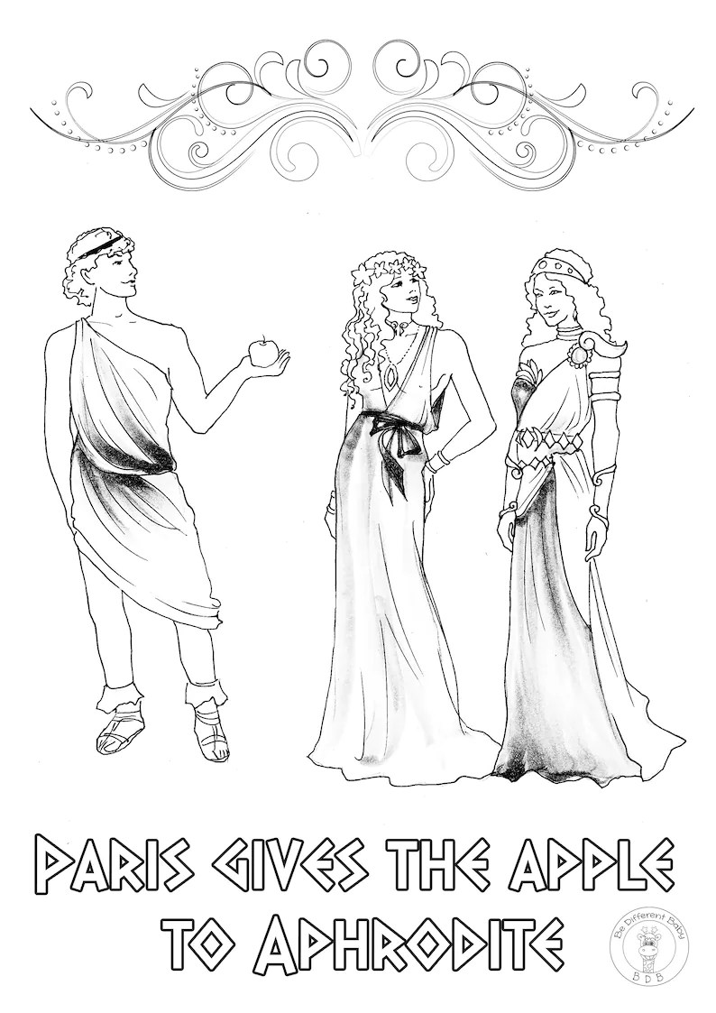 Greek Mythology Coloring Pages/If you and your children