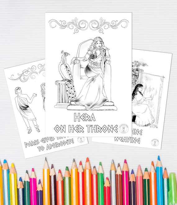 Greek Mythology Coloring Pages If You And Your Children Love Etsy