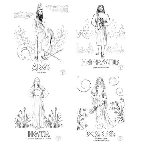 Greek Gods Coloring Pages/If you and your children love