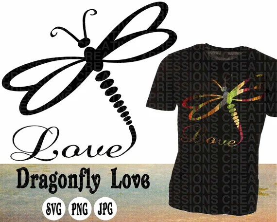 Download Dragonfly svg Dragonfly Love svg Dragonfly Love clipart | Etsy