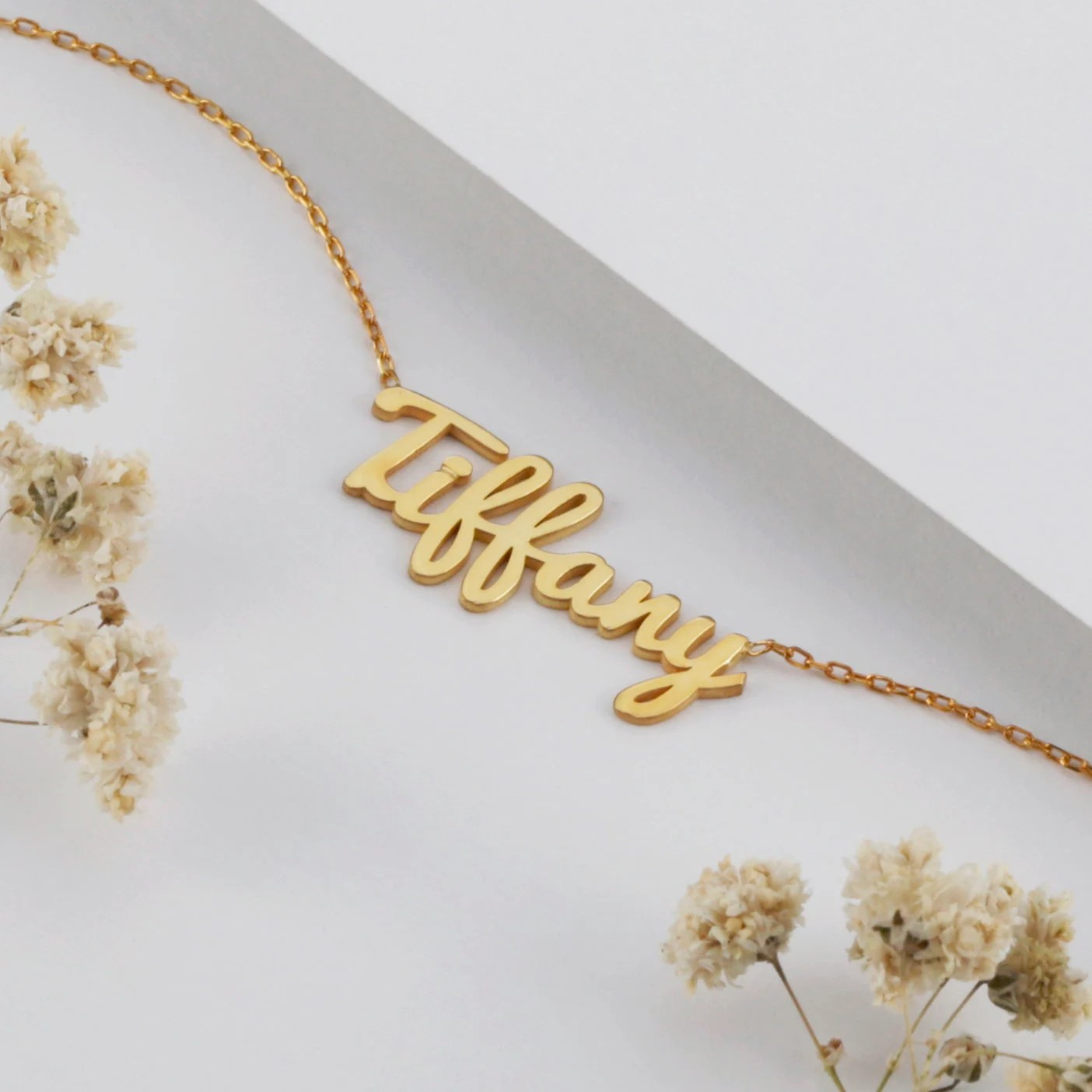 Personalized Name Necklace  Silver  Gold  Rose Gold  Gift image 1