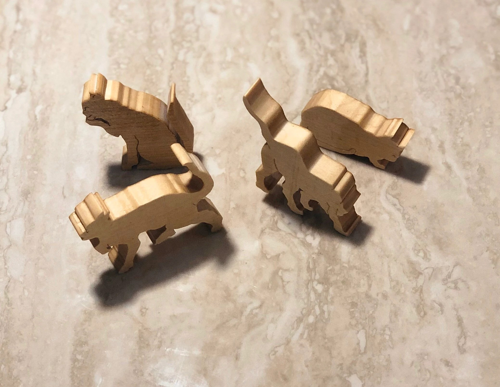 WALDORF Wooden toy motor skills Montessori  Cats in different image 2
