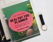 Healthy You Planner. Physical wellness planner, perfect for notes or tracking your weight loss and physical health. Self-Care notepad